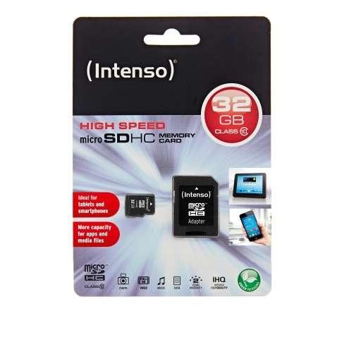 Micro SDHC 32GB Intenso 1 Adapter Class 10  3413480                                                                                                 Micro SDHC 16GB Intenso 1 Adapter Class 4