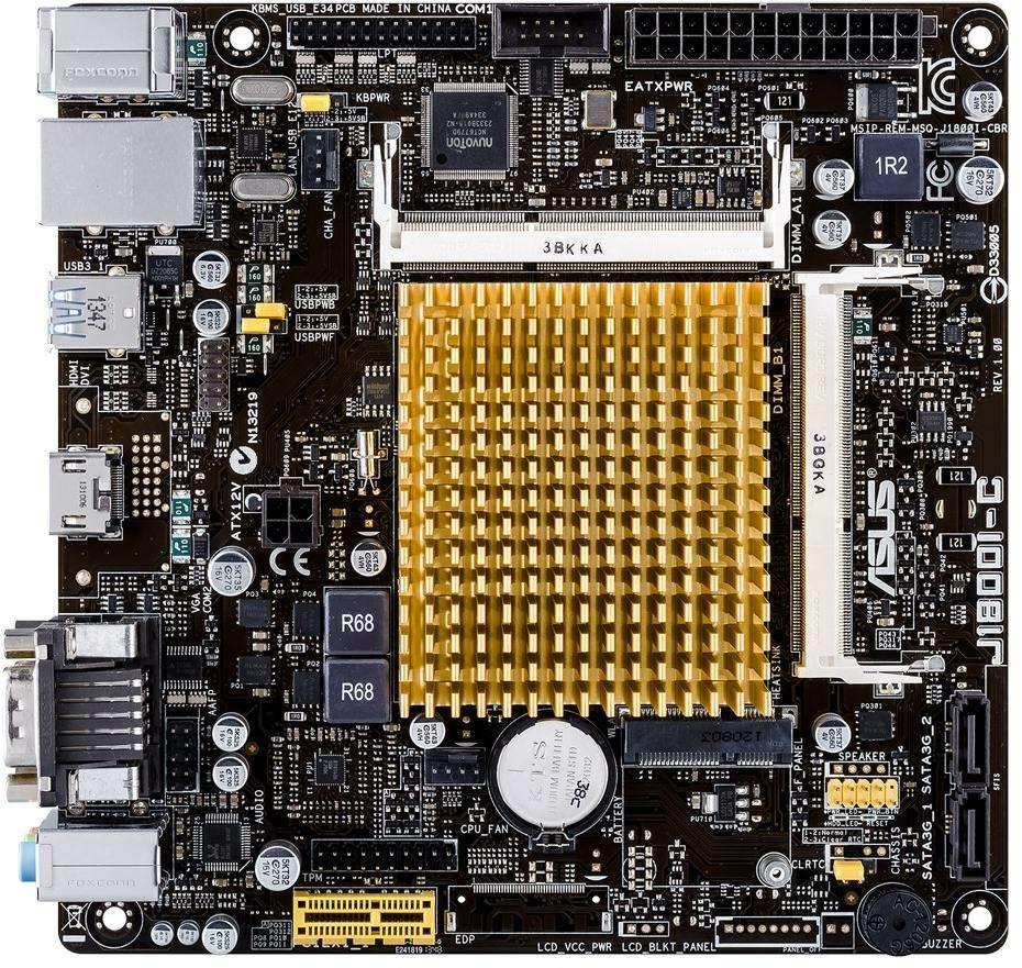 ASUS J1800I-C/CSM (Intel CPU on Board) (D)