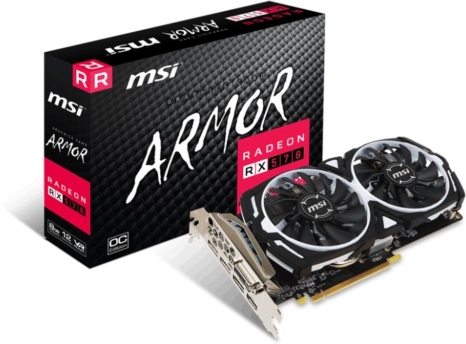 VGA MSI Radeon RX 570 ARMOR 8G OC