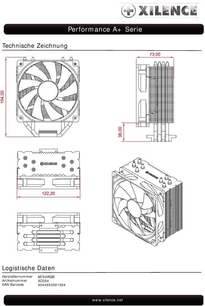 Cooler Xilence M704-RGB Multisocket
