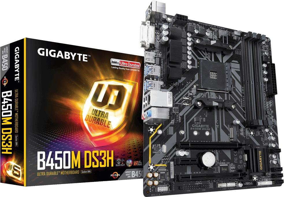 Gigabyte GA-B450M-DS3H (AM4) (D)