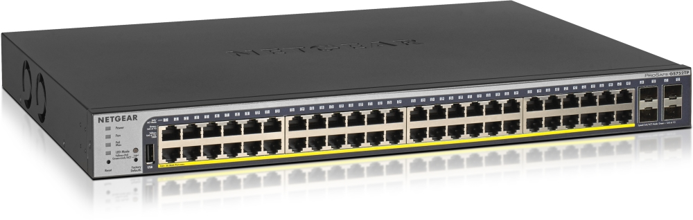 NETGEAR Switch Desktop 48-Port 10/100/1000 GS752TP-200EUS V2