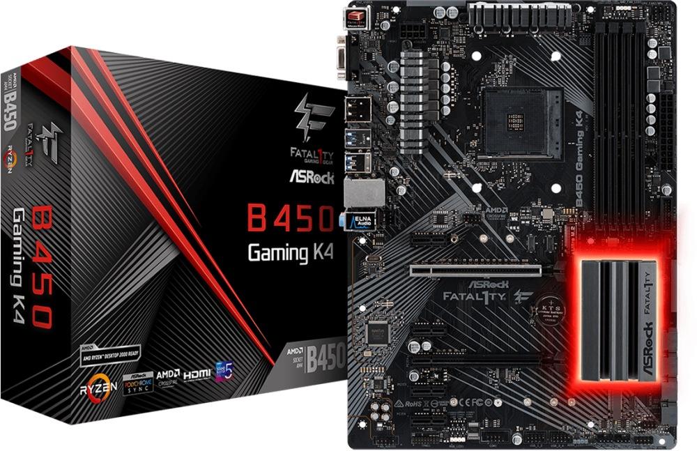 ASROCK B450 Gaming K4 (AM4) (D)