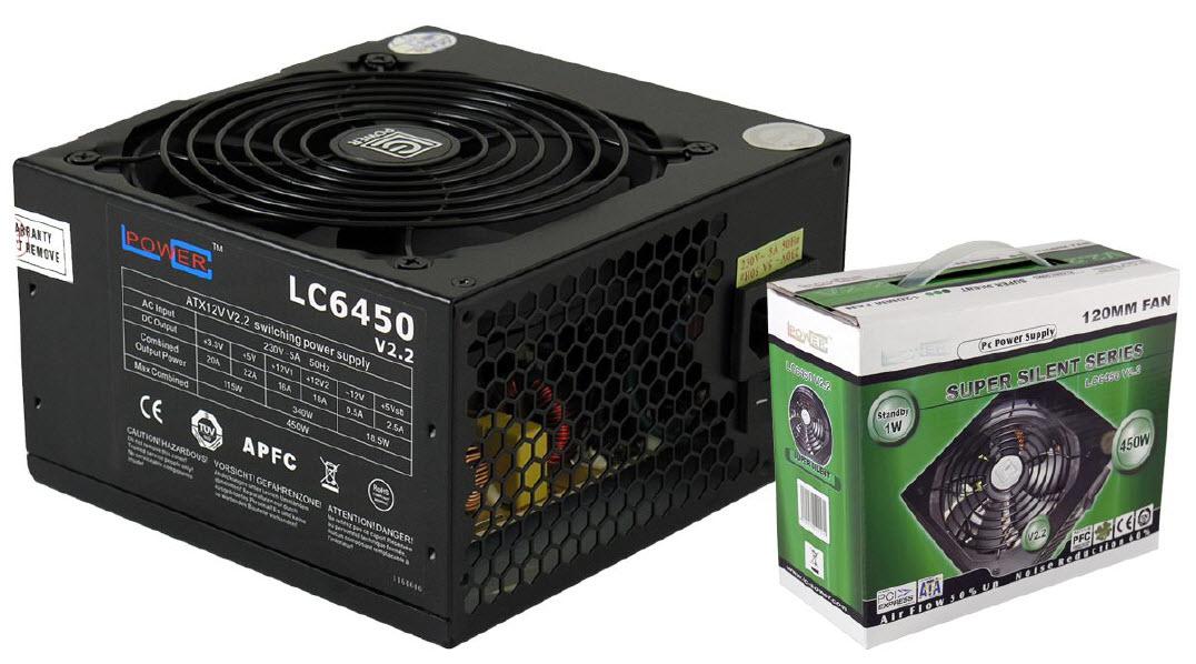 PC- Netzteil LC-Power Super Silent 450W - V2.3 80 PLUS Bronze