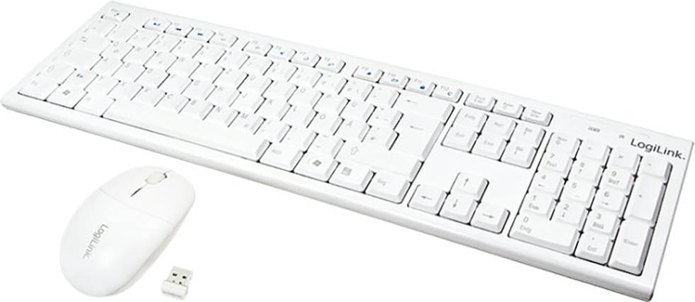 Keyboard & Mouse LogiLink Wireless white (ID0104W)
