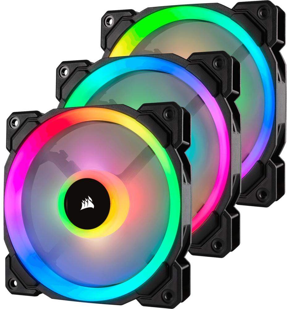PC- Gehäuselüfter Corsair LL Series LL120 RGB Dual Light Loop 3er Pack (CO-9050072-WW)