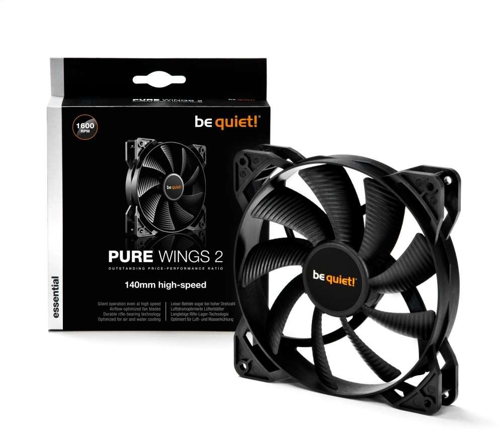 PC- Gehäuselüfter Be Quiet Pure Wings 2 140mm High-Speed