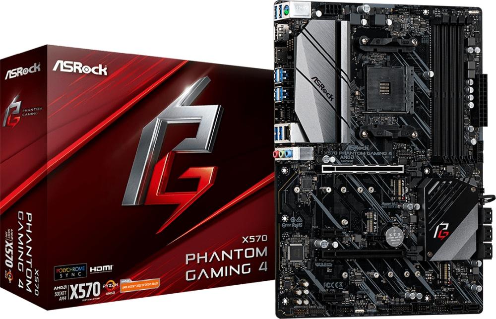 ASROCK X570 Phantom Gaming 4 (AM4) (D)