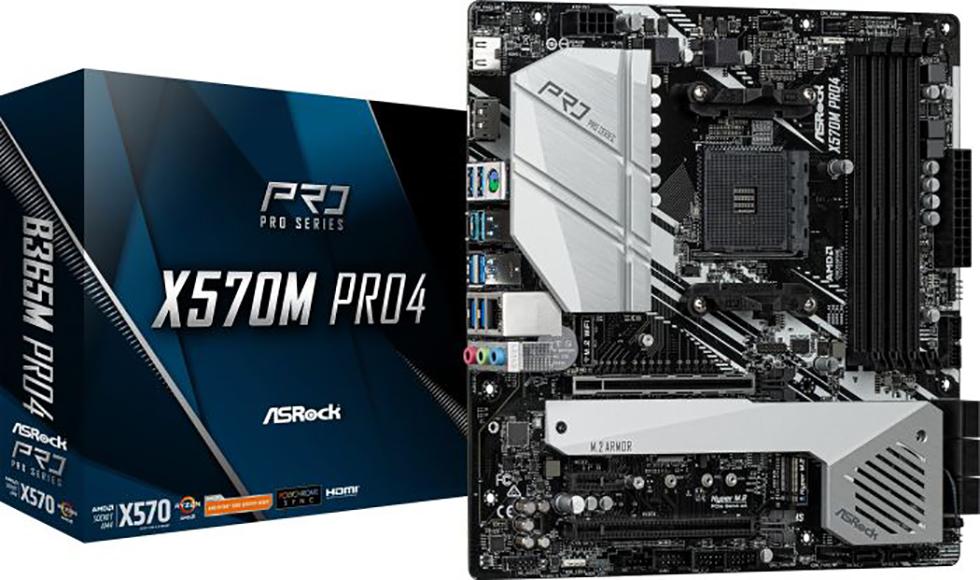 ASROCK X570M Pro 4 (AM4) (D)