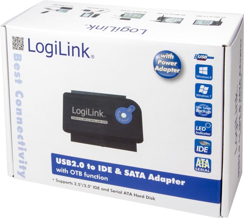 LogiLink Adapter USB 2.0 zu IDE & SATA