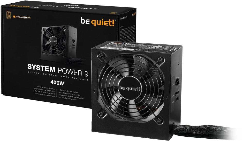 PC- Netzteil Be Quiet System Power 9 CM 400W