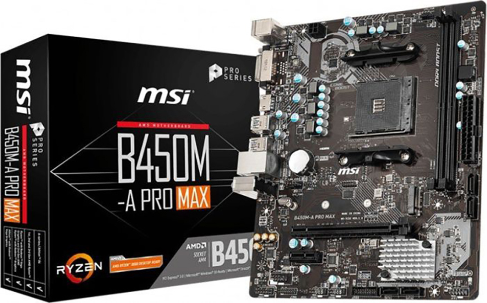 MSI B450M-A PRO MAX (AM4) (D)
