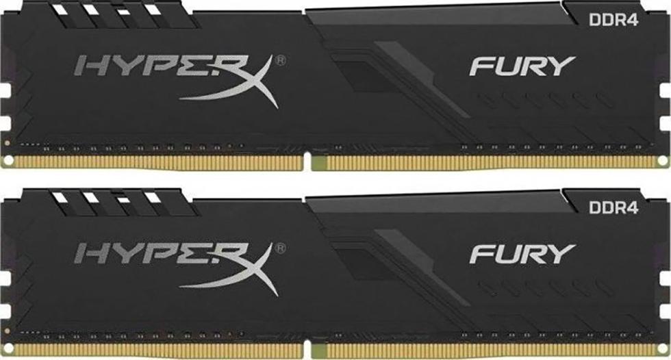 DDR4 8GB KIT 2x4 GB PC 3200 Kingston HyperX FURY Black HX432C16FB3K2/8
