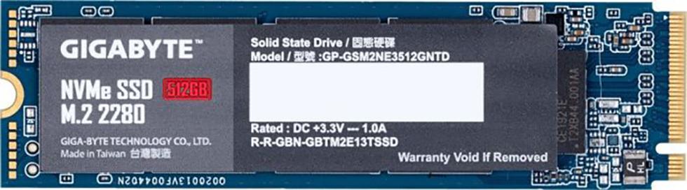 SSD GIGABYTE 512GB M.2 PCIe GP-GSM2NE3512GNTD