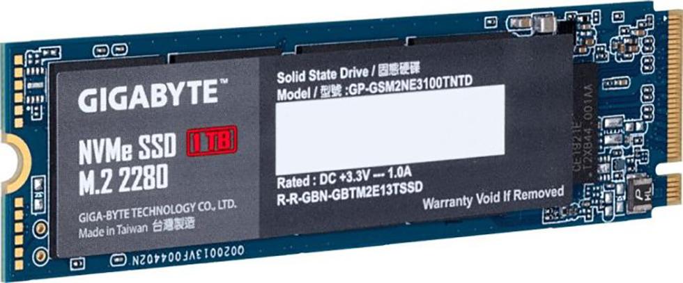 SSD GIGABYTE 1TB M.2 PCIe GP-GSM2NE3100GNTD