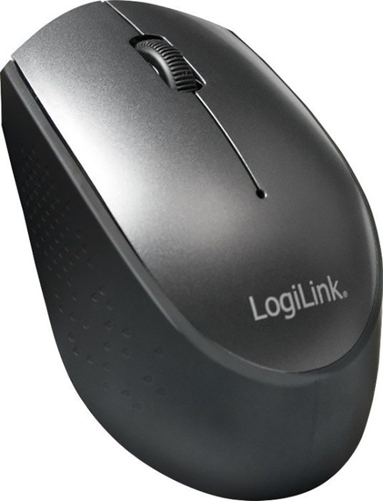 Mouse LogiLink Kabellose USB-C Funk Maus, 2.4 GHz Schwarz (ID0160)