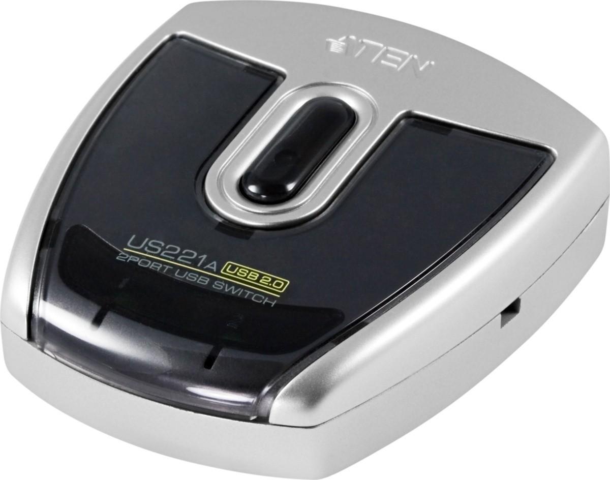 Aten USB-Umschalter US221A, 2x USB 2.0