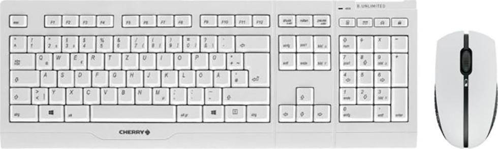 Keyboard & Mouse Cherry B.UNLIMITED 3.0 weiß-grau (JD-0410DE-0)