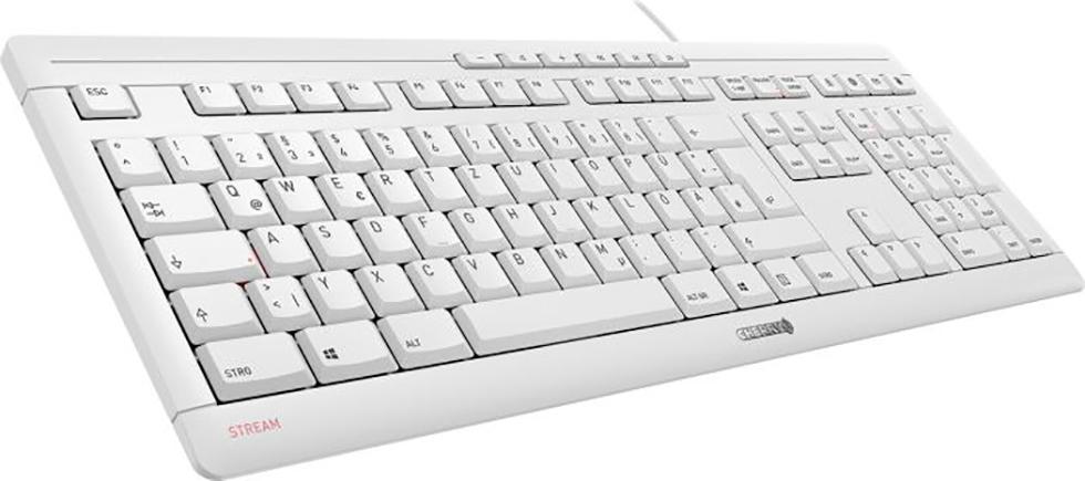 Keyboard Cherry STREAM weiß-grau DE (JK-8500DE-0)