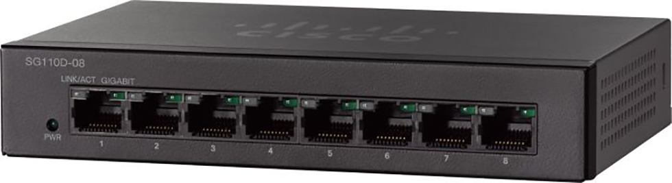 Cisco Small Business Switch 8-port 10/100/1000 SG110D-08