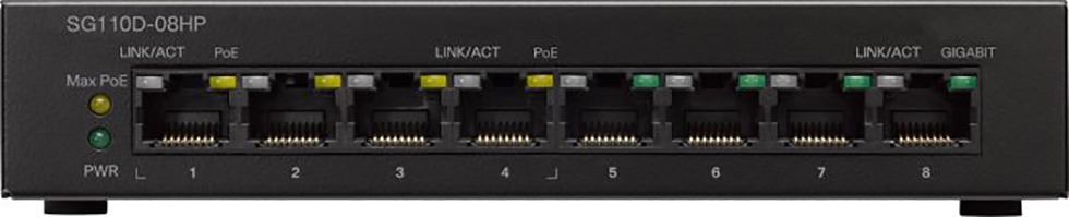 Cisco Small Business Switch 8-port 10/100/1000 SG110D-08HP