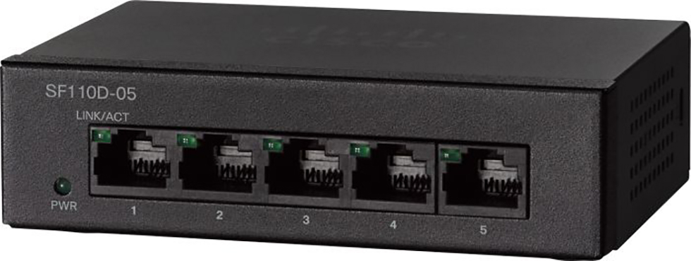 Cisco Small Business Switch 5-port 10/100 SF110D-05