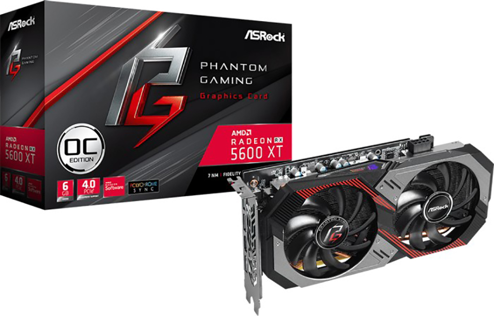 VGA ASRock Radeon RX 5600 XT Phantom Gaming D2 6G OC