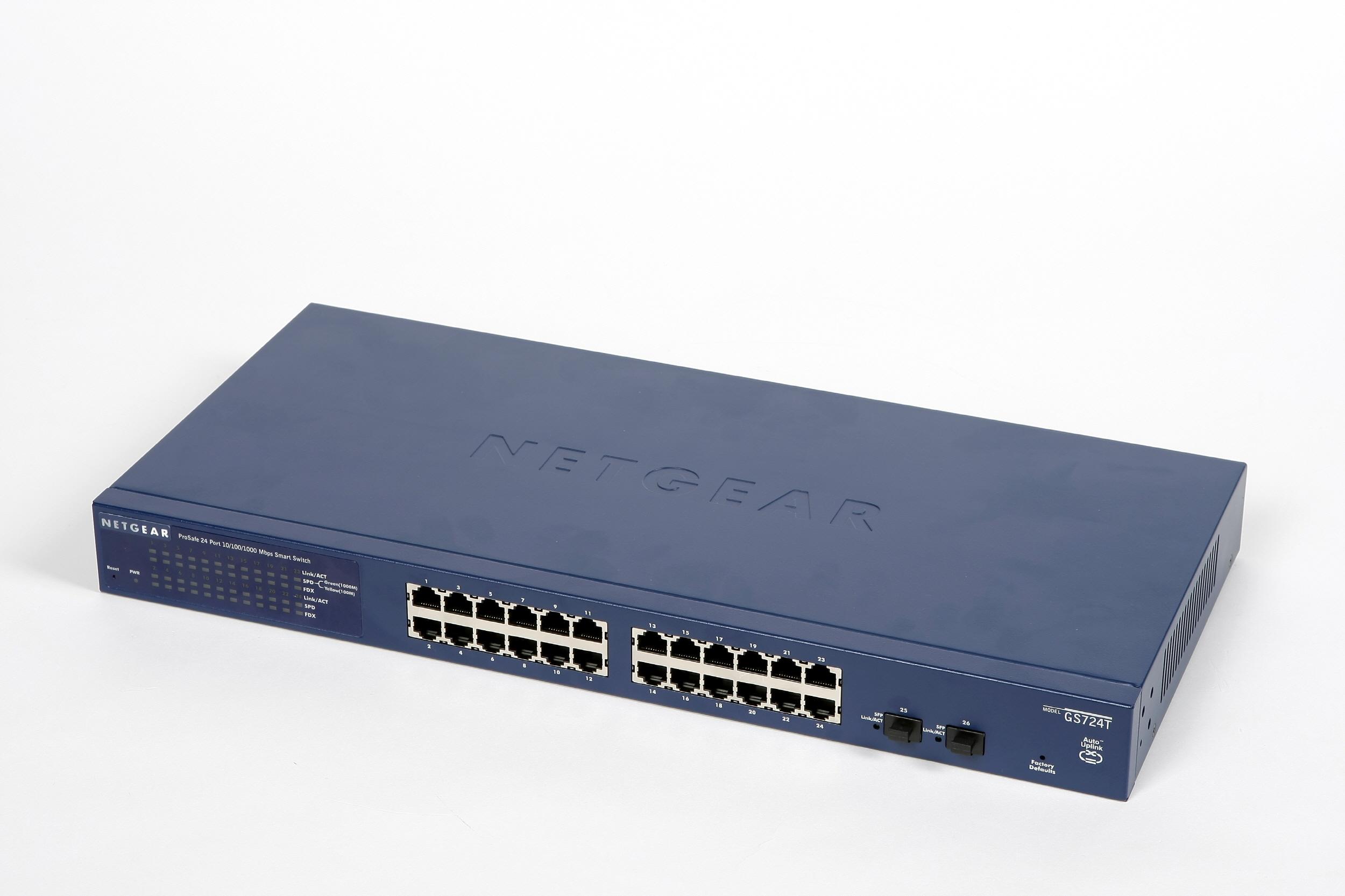 NETGEAR Switch Desktop Pro Safe 24-port 10/100/1000 GS724T-400EUS