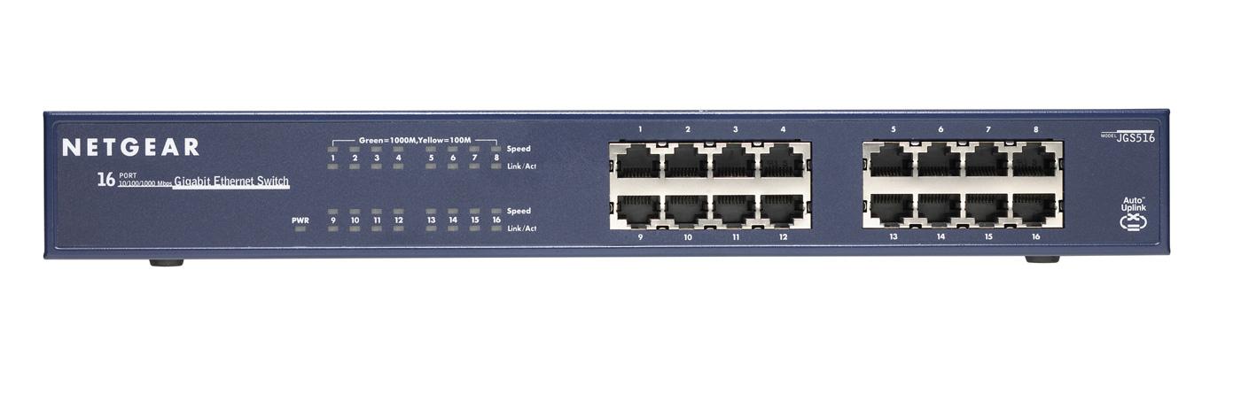NETGEAR Switch 16-port 10/100/1000 JGS516-200EUS