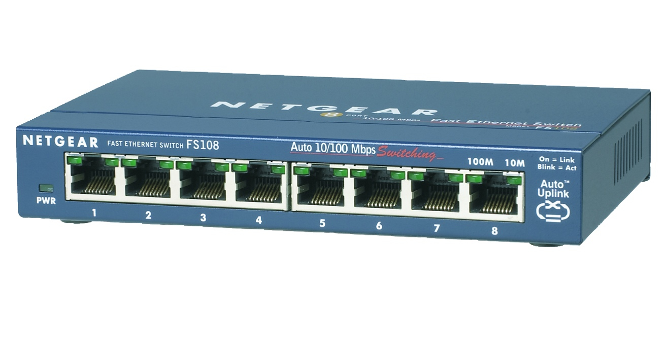 NETGEAR Switch Desktop Pro Safe 8-port 10/100 FS108-300PES